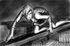 Глэйс в подвале
